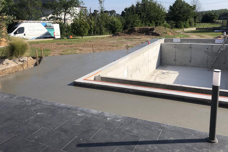Création de piscine à Kervignac