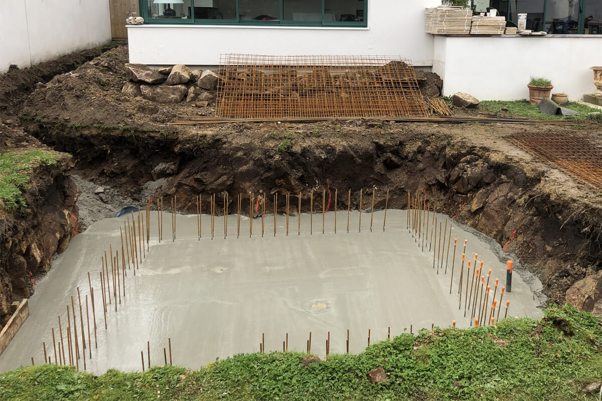 Construction piscine carrée Morbihan