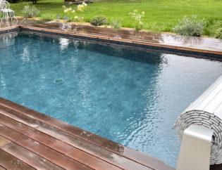 Construction d'une piscine béton à Meucon (56)